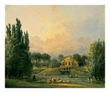 Italian Tempietto in a Park Posters by Hubert Robert