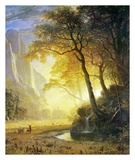 Hetch Hetchy Canyon Plakater af Albert Bierstadt