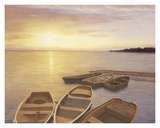 Boats at Dock Prints by Diane Romanello