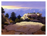 Evening at Moran Point Poster by Ann Mcleod