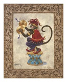 Monkey with Cymbals Prints by Janet Kruskamp