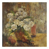 White Hydrangea Posters by Lorrie Lane