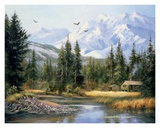 Cabin in the Foothills Art by Bernard Willington