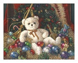 Christmas Bear Prints by Janet Kruskamp