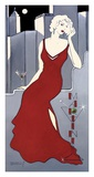 La Dame en Rouge Prints by Janet Kruskamp