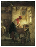 Washing Day Print by Pierre Edouard Frere