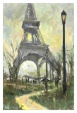 Eiffel Tower Print by Allayn Stevens