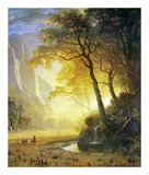 Hetch Hetchy Canyon Posters by Albert Bierstadt