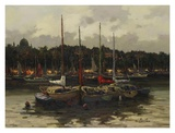 Boats at Night Prints by  Furtesen