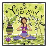 Yoga Girl Posters by Jennifer Brinley
