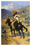 An Indian Trapper Print by Frederic Sackrider Remington