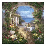 Mediterranean Arches II Print by Gabriela 