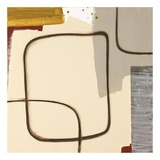 Square Circle Print by Maria Lobo