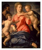 The Holy Family Print by Agnolo Bronzino