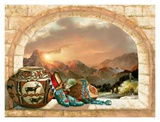 Pottery Arch Poster von Alma Lee