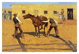 His First Lesson Art by Frederic Remington