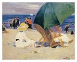 Parasol verde Pósters por Edward Henry Potthast