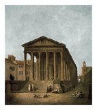 Temple of Augustus in Nimes, 1783 Posters par Hubert Robert