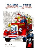 Fourth of July Parade - Jack and Jill, July 1954 Giclee Print