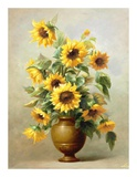 Sunflowers in Bronze II Prints by  Welby