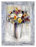 Bordered Bouquet II Prints by Hooshang Khorasani