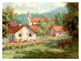 Abajo de la Iglesia Print by Roger Williams