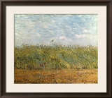 Wheat Field with a Lark Framed Giclee Print by Vincent van Gogh