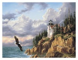 Bass Harbor Head Lighthouse Art by Rudi Reichardt