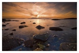 Tidepool at Sunset Prints by Robert Strachan