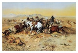A Desperate Stand Art by Charles Marion Russell
