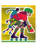 Rollerskating - Jack and Jill, April 1982 Giclee Print by Allan Eitzen