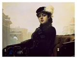 Portrait of an Unknown Woman Print by Ivan Kramskoj