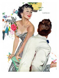 "I Want A Man  - Saturday Evening Post ""Leading Ladies"", April 15, 1950 pg.40 Giclée-Druck von Joe deMers"