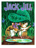 Minimumbrella - Jack and Jill, April 1972 Giclee Print by Barbara Yeagle