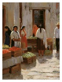 Vegetable Market Print by Roger Williams