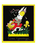 Easter Greetings  - Child Life, April 1935 Giclee Print by John Gee