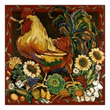 Rooster Harvest Art by Suzanne Etienne