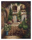 Courtyard Vista Print by  Twindini