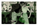 """The Magnificent Phoney  - Saturday Evening Post """"Leading Ladies"""", June 18, 1955 pg.p42 Giclee Print by Robert Meyers"""