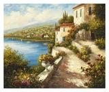 Villa del Mare Print by  Lazzara