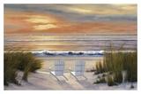 Anochecer en el paraíso Póster por Diane Romanello