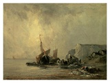 Boats by the Normandy Shore Prints by Richard Bonington