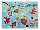 Leaf Kids - Jack and Jill, October 1945 Giclee Print by Stella May DaCosta