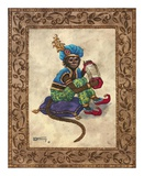 Monkey with Concertina Poster by Janet Kruskamp