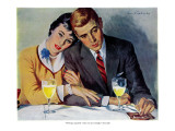 "Marriage Money - Saturday Evening Post ""Leading Ladies"", January 7, 1956 pg.24 Giclee Print by Ray Prohaska"