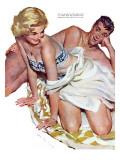 "Roadhouse Woman  - Saturday Evening Post ""Leading Ladies"", December 1, 1951 pg.21 Giclée-Druck von John Fernie"
