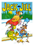 Fun on the Ice - Jack and Jill, January 1978 Giclee Print by Dennis Anderson