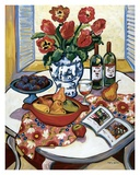 Blue Platter with Plums Posters by Suzanne Etienne