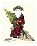 Santa&#39;s Gifts Print by Peggy Abrams