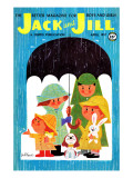 Rain Kids - Jack and Jill, April 1957 Giclee Print by Jack Weaver